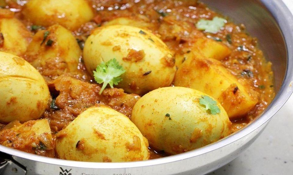 Huevo al curry