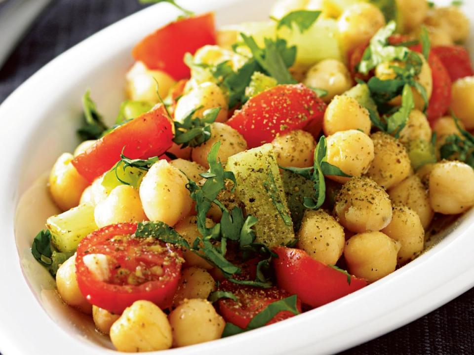 recetas de ensaladas con garbanzos
