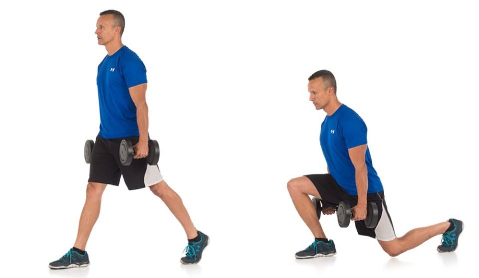 Zancada, ejercicio fácil de glúteos