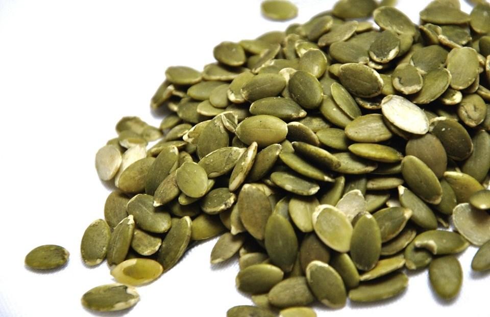 Semillas de calabaza contienen hierro