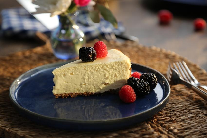 tarta de queso fitness horneada