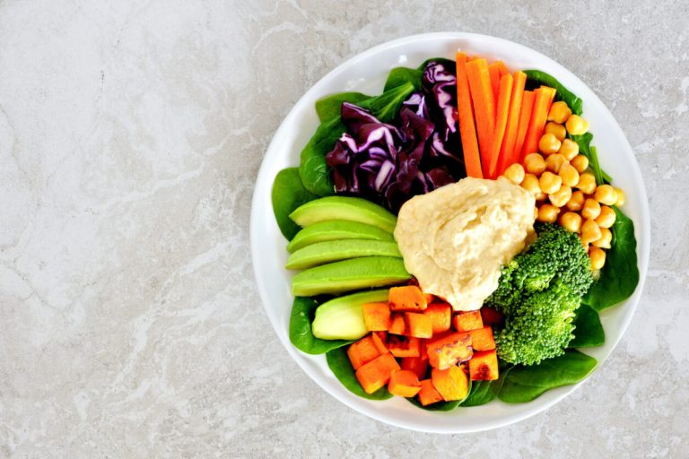 hummus con verduras