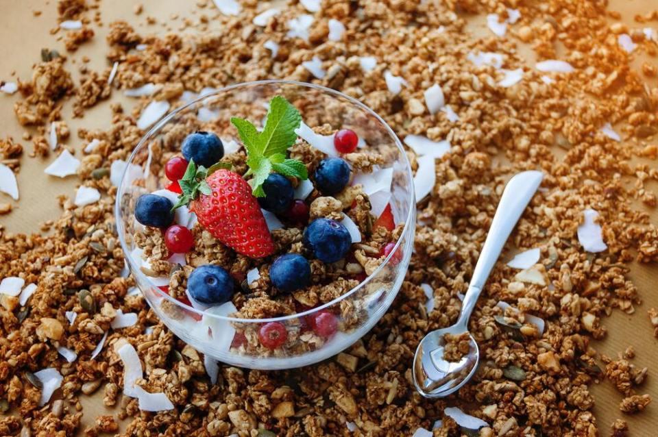 yogurt griego con salvado de avena