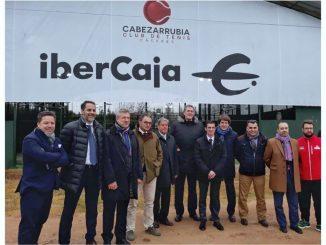 Presentación del acuerdo entre Ibercaja y el Club de Tenis Cabezarrubia