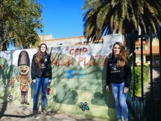Visita del Nissan Al-Qázeres Extremadura a colegios, campaña #ElMacayoAPlayOff