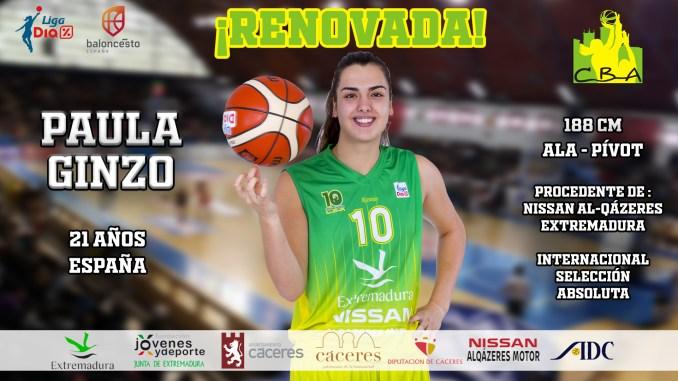 Paula Ginzo, renueva su compromiso con el Nissan Al-Qázeres Extremadura