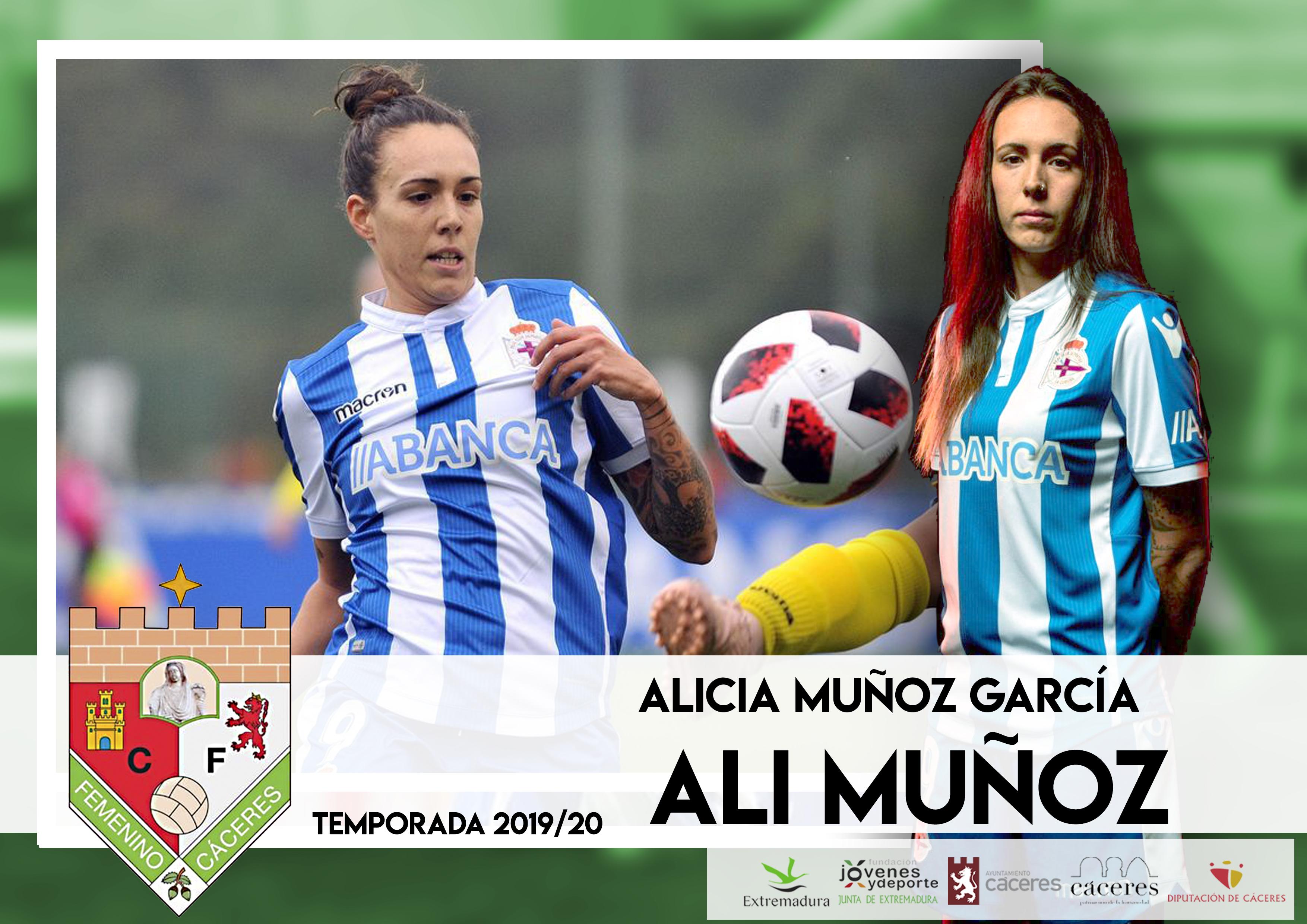 La Jugadora Ali Muñoz se une a la plantilla del Femenino Cáceres para la temporada 2019/2020