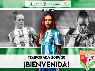 La Jugadora Ali Muñoz se une a la plantilla del Femenino Cáceres para la temporada 201920. Procede del R.C Deportivo de la Coruña