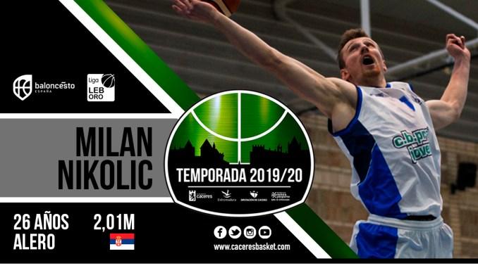 Milan Nikolic, salto de calidad para el juego exterior del Cáceres