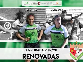 El CF Femenino Cáceres renueva a María Jesús y María Luisa para la temporada 2019/20