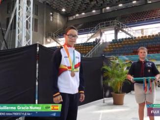 Nueva medalla mundial, Guillermo bronce en 100 ml