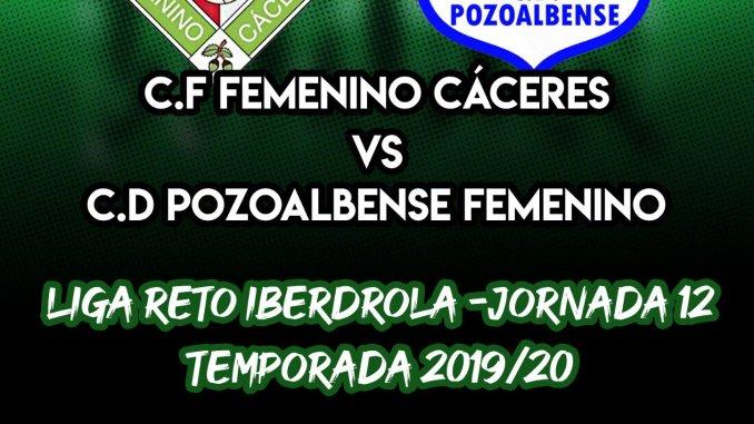 El C.F Femenino Cáceres jugará su undécima jornada en RETO IBERDROLA contra el C.D Pozoalbense