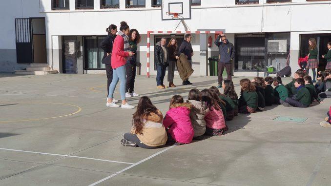 Miriam Forasté y Laura Ferreira visitan el colegio Paideuterion