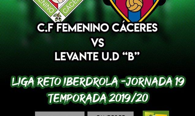 """Previa del partido C.F FEMENINO CÁCERES - LEVANTE U. D """"B"""""""