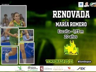 La jugadora placentina María Romero continuará en la disciplina del C.B Al-Qázeres Extremadura