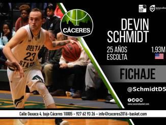El Cáceres contará con los servicios del escolta Devin Schmidt esta temporada