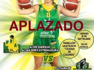 Aplazado el partido Alter Enersun Al-Qázeres Extremadura – Kutxabank Araski