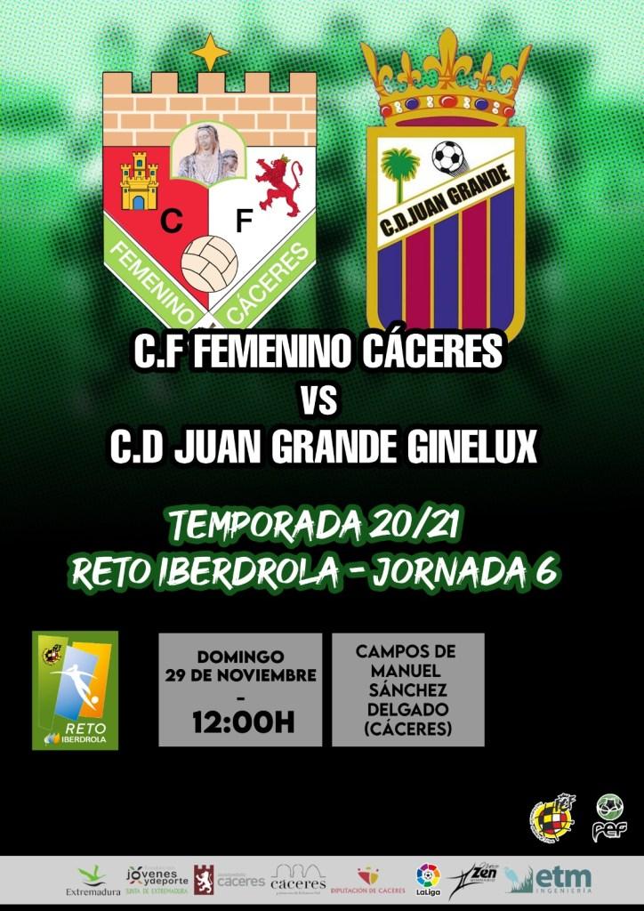 Previa del Femenino Cáceres ante el Juan Grande Ginelux
