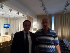 """Dante Pigerl, presidente del CPDyR junto al Secretario de Deportes Carlos """"Camau"""" Espínola en la Secretaria de Deportes de la Nación"""