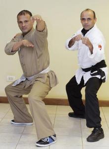 Jorge Carballo y Osvaldo Martínez (kung fu), los promotores (Foto: Tatiana Lencina, El Territorio)