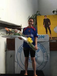 Astrid Olmedo récord nacional 50 mariposa