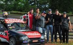 Gran algarabía se vivió en el NTMotorSport, ya que Tomás Sniechowski a bordo del Ford Escort pudo conseguir el mejor registro en la super clasificación del Turismo Pista Clase 2  (Foto prensa NTMoto Sport)