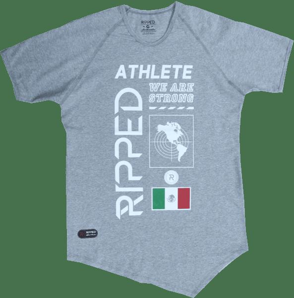 athlete gris manga corta pico