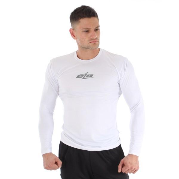 camisa licra manga larga blanca