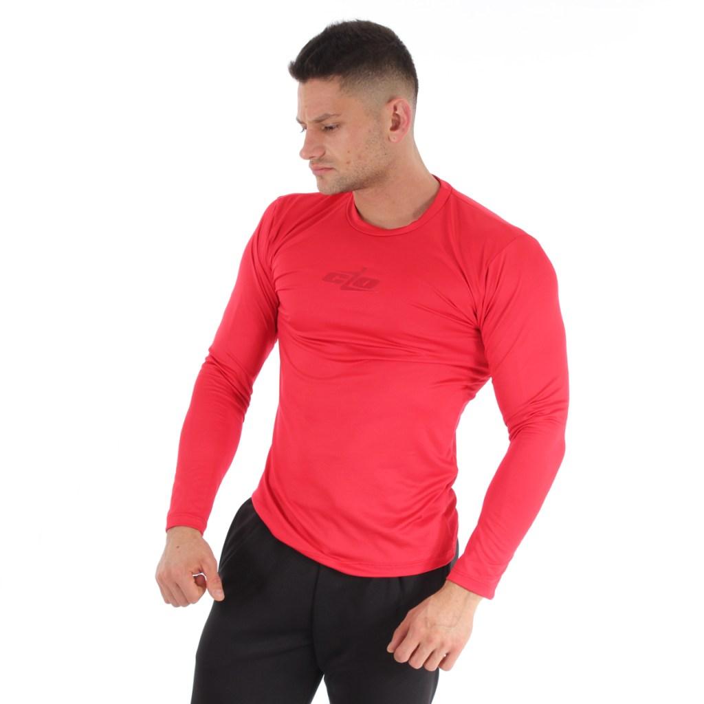 camisa licra manga larga roja