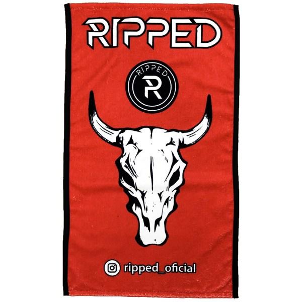 toalla toro roja