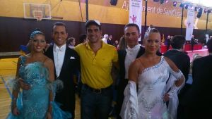 Con el bailarines de DANDI en el campeonato de España de San Cugat de bailes de salón