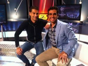 Con Gerard López analizando el Real Madrid en Champions en TV3
