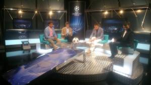 En el programa Zona Champions de TV3 analizando la jornada de Champions League