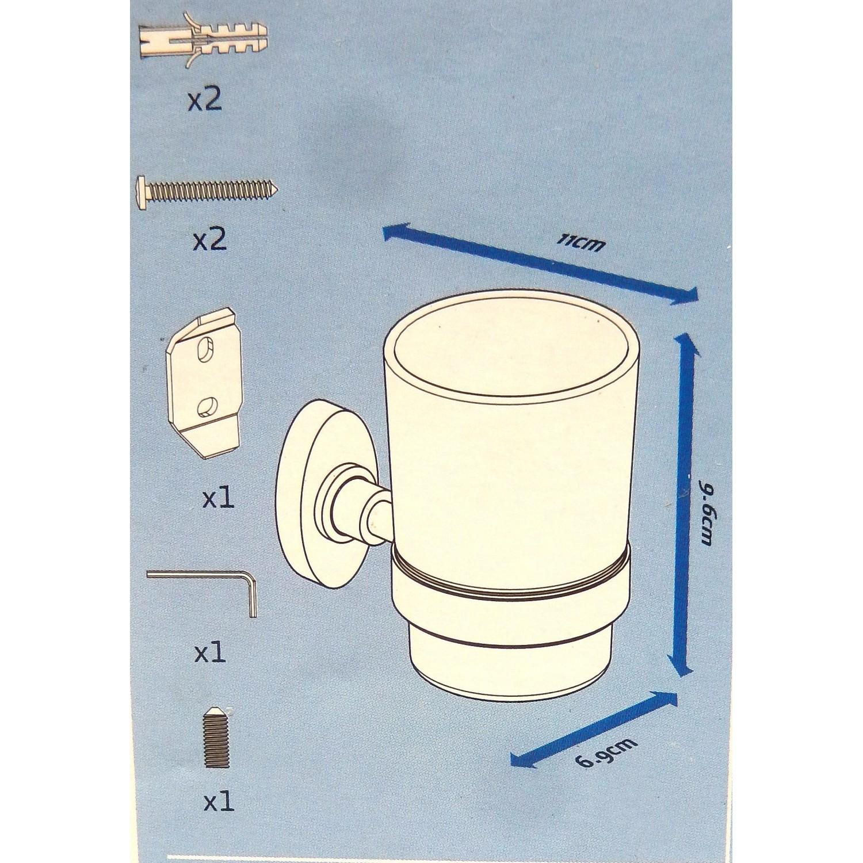 details sur gobelet de salle de bain avec support sensea florina