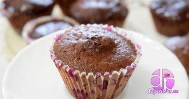 cupcake de chocolate receta fácil