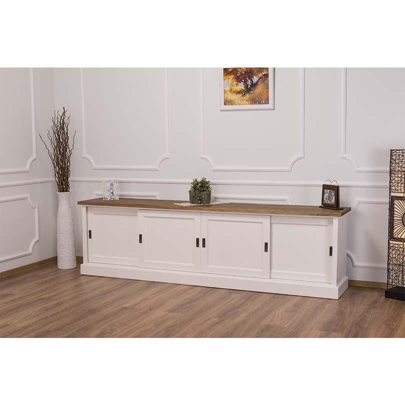 meuble tv en pin massif romane 246x46x70 cm