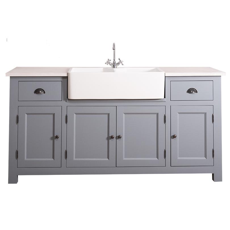 meuble de cuisine romane avec evier timbre double bacs integre 180x65x90 cm