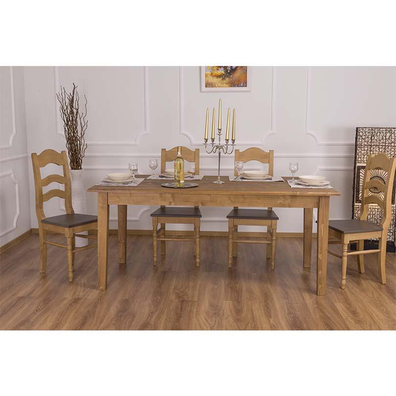 table a manger romane en bois massif 160x90x78
