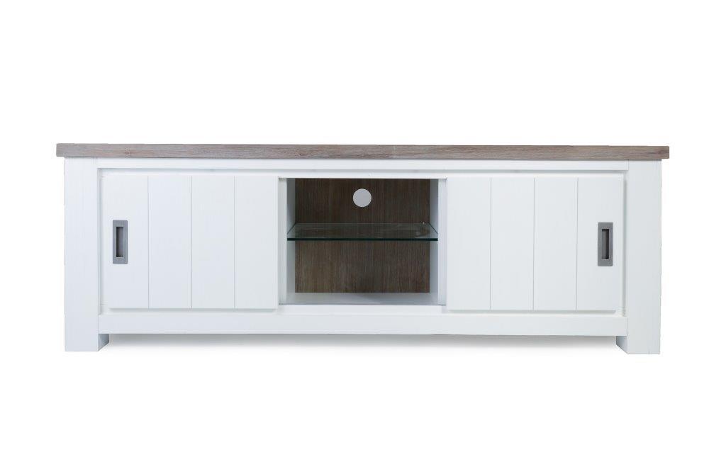 meuble tv verone 165 cm en acacia massif