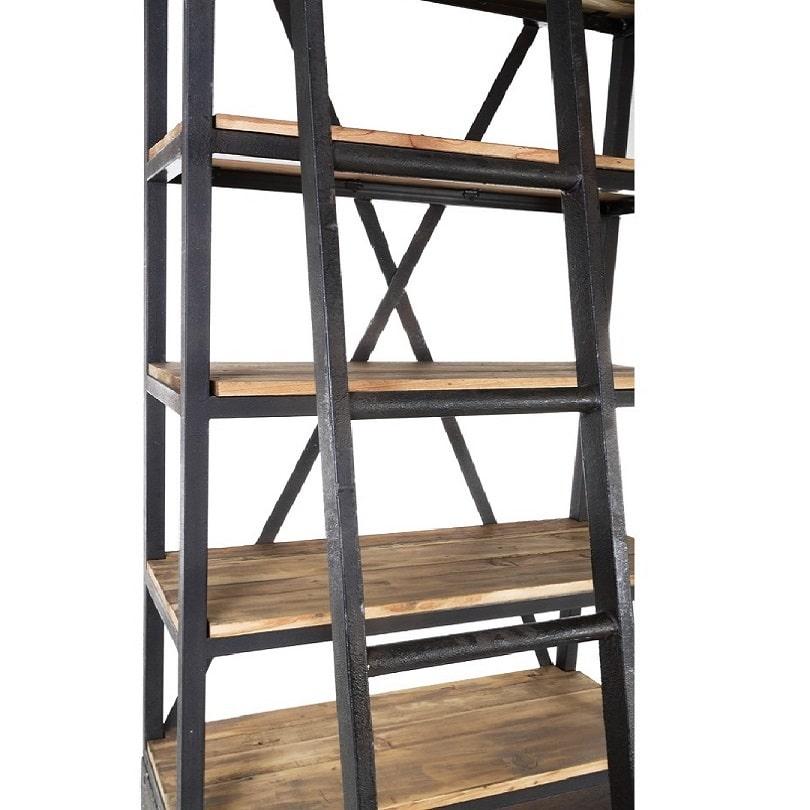 etagere vintage industrielle metal vieux bois avec echelle