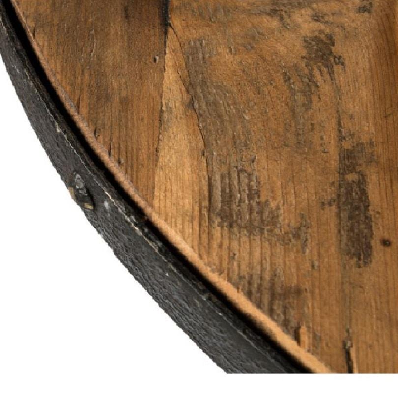 table haute de bar mange debout en metal vieux bois reglable