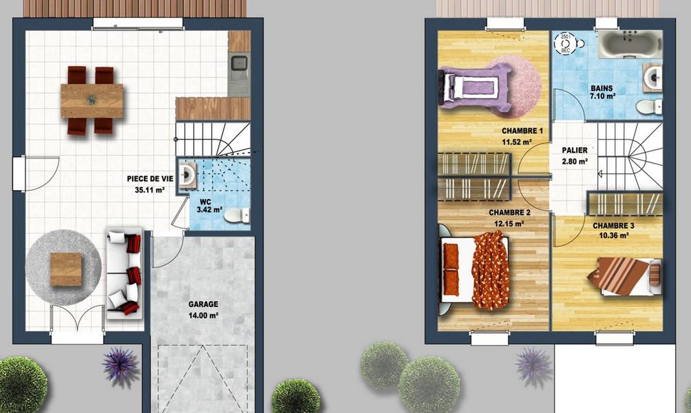 Maisons Economiques Des Maisons A Moins De 110 000 Depreux Construction