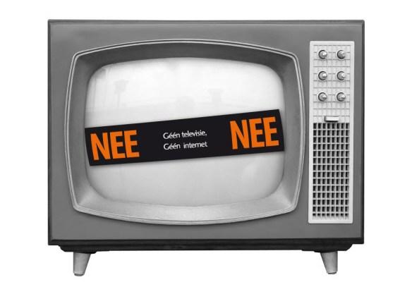 geen tv en internet