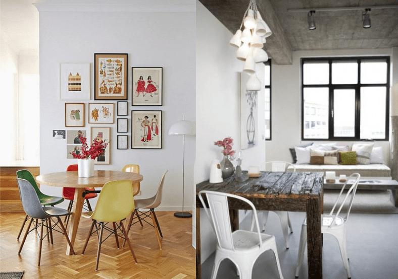 Qu mesa de comedor le conviene a tu espacio depto51 blog for Comedor ahorrador de espacio