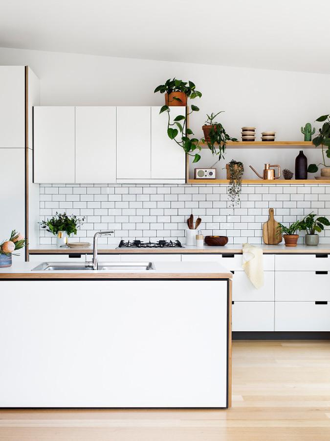 Charming Esta Configuración Es Un Modo De Separar Sutilmente La Cocina Del  Living Comedor Y De Utilizar Los Medios Muros Como Superficie ...