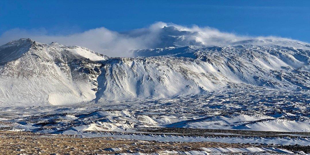 Nubes de ventisca sobre Snæfellsjökull 2
