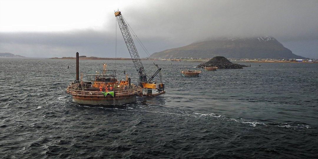 Construyendo el Lepsøybrua