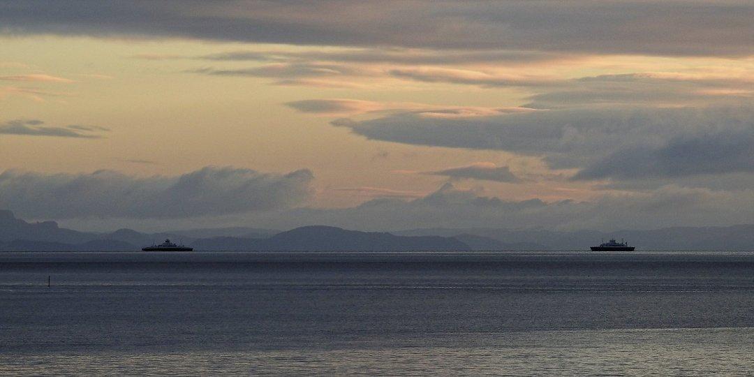 Transbordadores en el Trondheimsfjorden