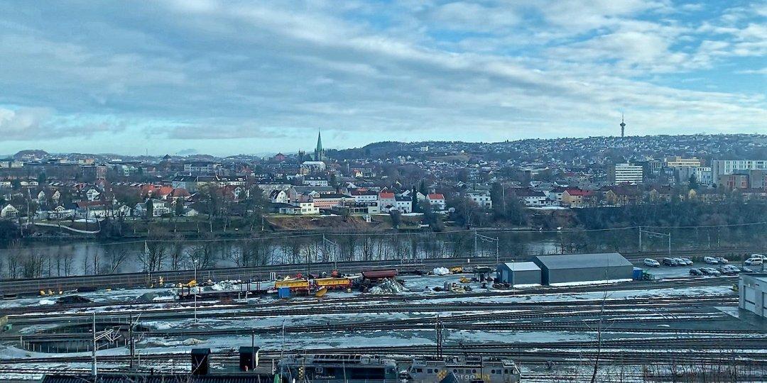 Trondheim desde el Gråkallbanen