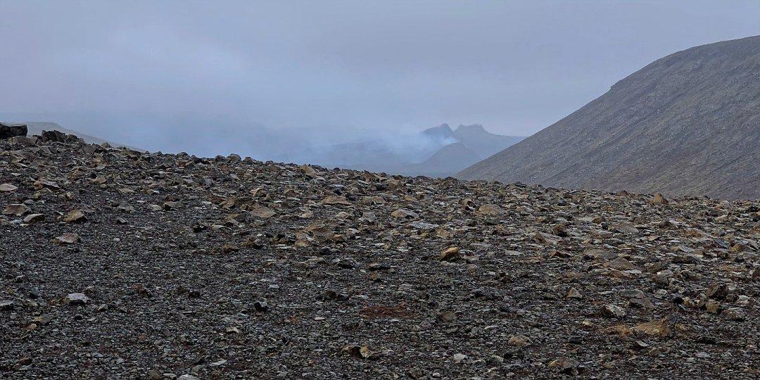 Viendo el volcán por primera vez